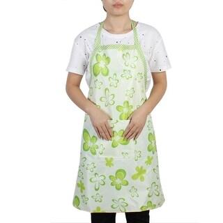 Unique Bargains Restaurant Kitchen Household Water Resistant Cooking Apron Bib Dress Green