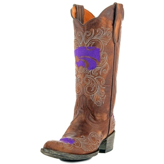 Gameday Boots Womens College Kansas State Wildcat Brass