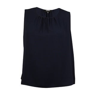 Nine West Women's Gathered Blouse - Navy