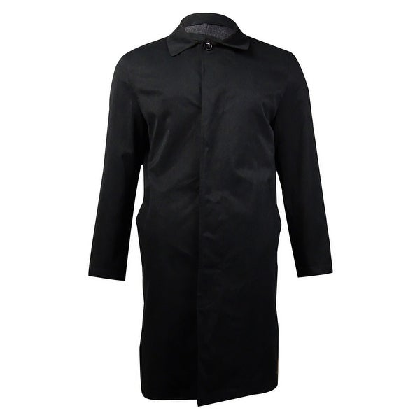 London Fog Men's Durham Raincoat (Black, 38S) - Black - 38 Short