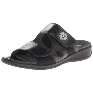 SoftWalk Womens Tamarack Leather Casual Strap Sandals - 6 medium (b,m)