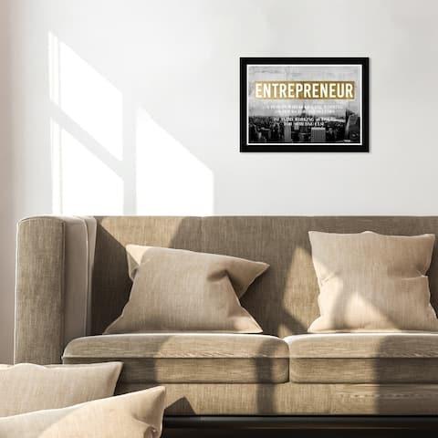 Hatcher & Ethan 'Entrepreneur' Wall Art Framed Print - Gold, Black