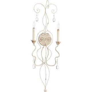 Quorum International 5544-2 Venice 2 Light Wall Sconce with Crystal Accents