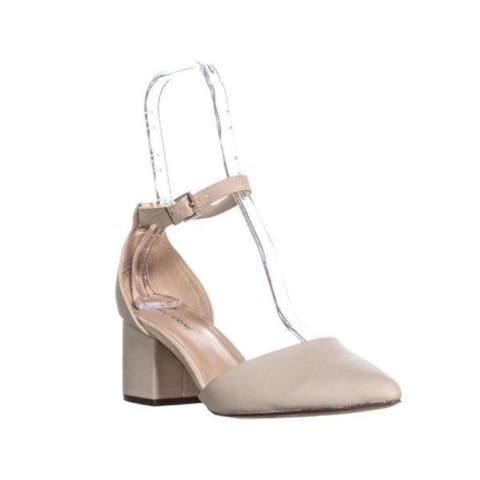 Call It Spring Womens Aiven-32 Fabric Pointed Toe Ankle Strap Classic Pumps