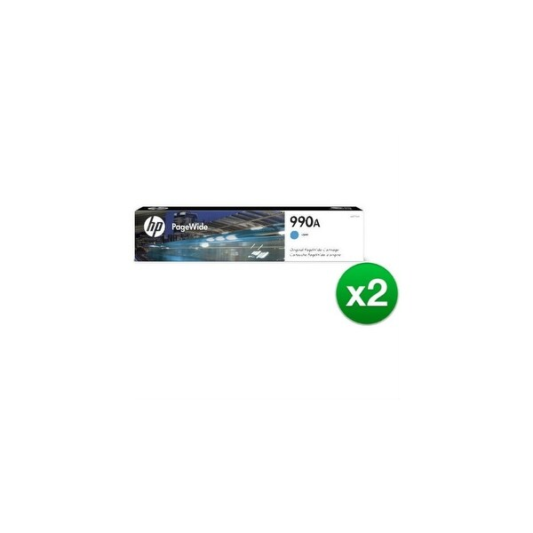 HP 990A Cyan Original PageWide Cartridge (M0J73AN) (2-Pack)