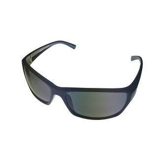 Levi Rxable Mens Sunglass LS171 3 Black Rectangle Wrap Smoke Solid Lens - Medium