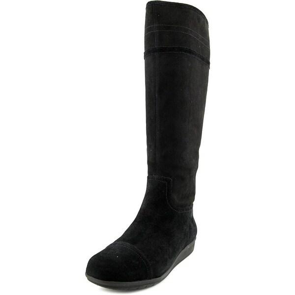 Easy Spirit Jarada Women Round Toe Suede Black Knee High Boot