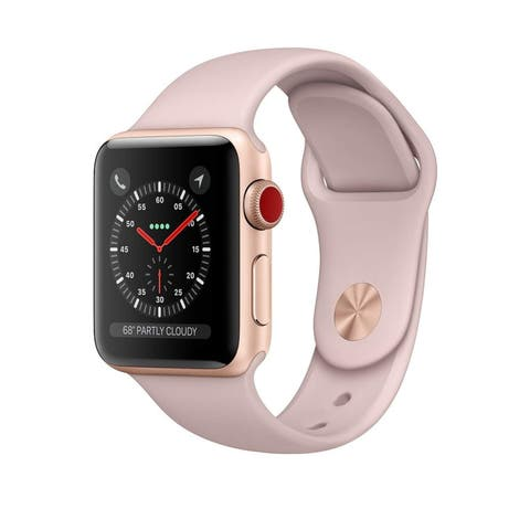 Apple Watch Series 3 38mm w/ Gold Case & Pink Sport Band (Refurbished)
