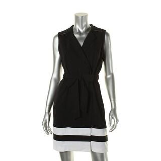 Calvin Klein Womens Petites Sleeveless Sheath Wear to Work Dress - 6P