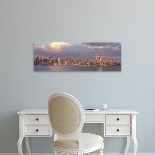 Easy Art Prints Panoramic Images's 'New York City Hudson River NY' Premium Canvas Art