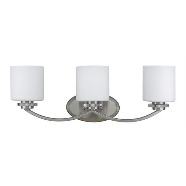 Lighting Prudence Transitional 3 Light Brushed Nickel Bat Free Shipping Today 25885092