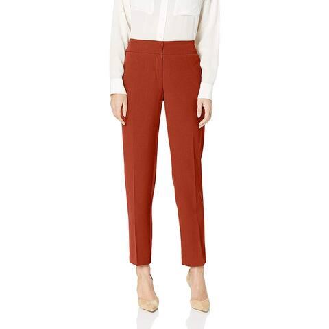 Kasper Womens Pants Orange Size 16 Dress High-Rise Slim-Fit Stretch