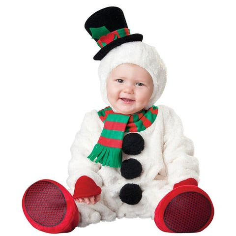 Silly Snowman Infant Costume - White
