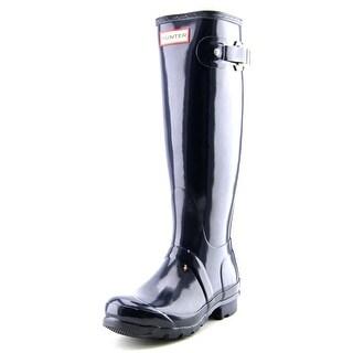 Hunter Original Tall Glossy Women Round Toe Synthetic Blue Rain Boot