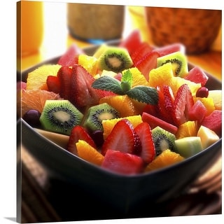 """Fruit bowl"" Canvas Wall Art"