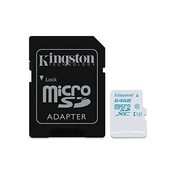 Kingston SDCAC-64GB 64 GB MicroSDXC UHS 1 U3 SD Memory Card