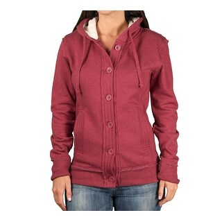 Ouray Ladies Chunky Hooded Fleece Cardigan