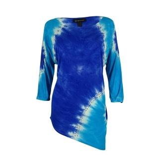 INC International Concepts Women's Tie-Dye Dolman Tunic Top - pm