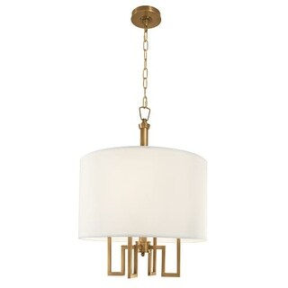 "Norwell Lighting 9677 Maya 4 Light 20"" Wide Chandelier with White Shade"