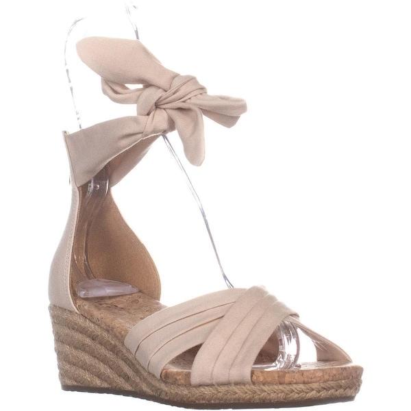 fc57a2983bc Shop UGG Traci Wedge Sandals, Cream - 7.5 US / 38.5 EU - Free ...