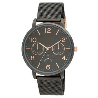 Link to 5 Colors Available- Mens Faux Chrono Mesh Two Tone Dial Bracelet Watch Similar Items in Men's Watches