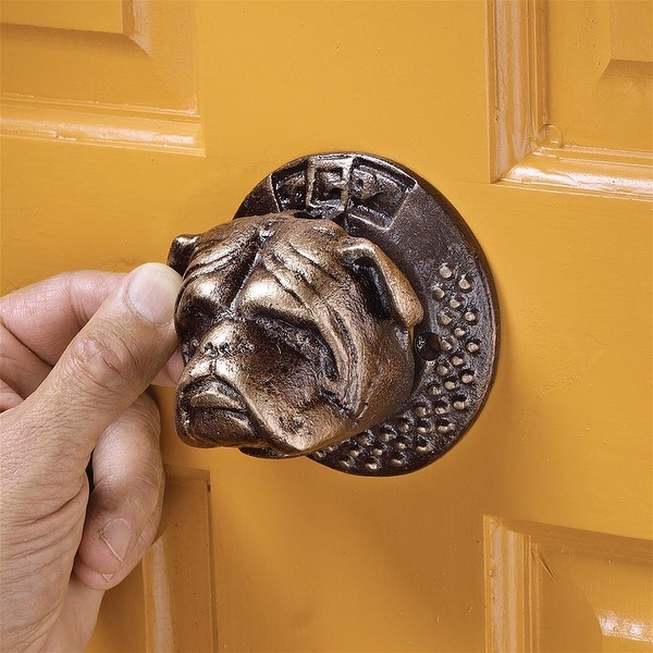 Design Toscano Bulldog Authentic Foundry Iron Door Knocker