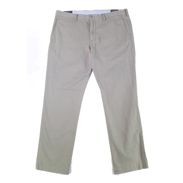 Polo Ralph Lauren Mens Pants Gray Size 38X34 Slim Fit Chino Stretch. Opens flyout.