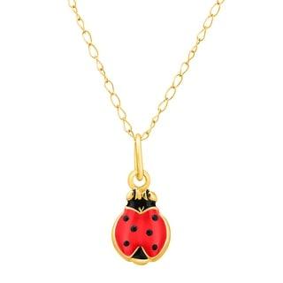 Girl's Ladybug Pendant in 14K Gold - Yellow