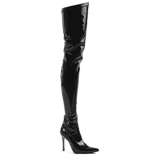 Black Patent Over the Knee Boot