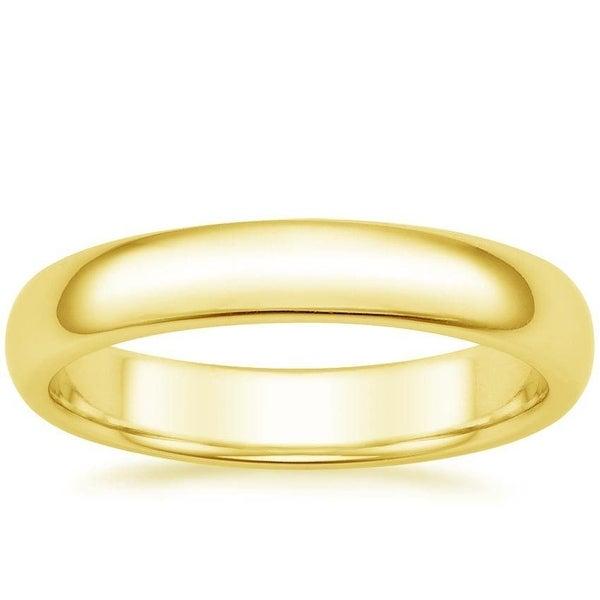 Mcs Jewelry Inc 14 KARAT YELLOW GOLD COMFORT FIT WEDDING BAND (4MM)
