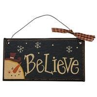Believe Black Ornament
