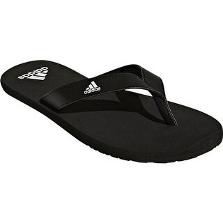 adidas Men's Eezay Essence Thong Sandal Black/Black/White