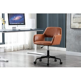 Link to Porthos Home Pepa Swivel Office Chair With Armrests, PU Leather Upholstery Similar Items in Kitchen Storage