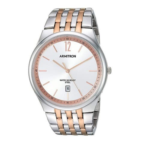 Armitron Men's 41mm Date Function Two-Tone Bracelet Watch