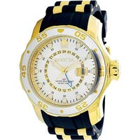 Invicta Men's Pro Diver  Gold Rubber Quartz Dress Watch