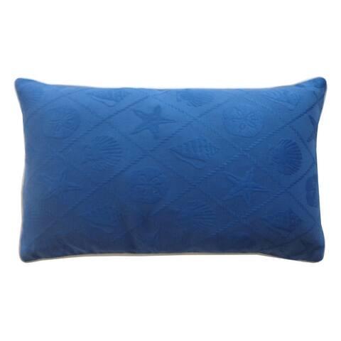 Jiti Seashell Tropical Sunbrella Outdoor Pillows - 12 x 20
