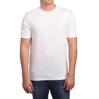 Z Zegna by Ermenegildo Zegna Men Blank T-Shirt White Grey