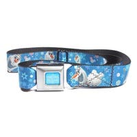 Disney Frozen Snowman Olaf Poses with Snowflakes Seatbelt Belt