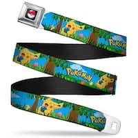 Pok Ball Full Color Black Pokmon Pikachu Sitting Under Tree Laughing Seatbelt Belt