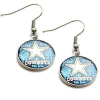 Dallas Cowboys Glitter Sparkle Dangle Logo Earring Set Charm Gift