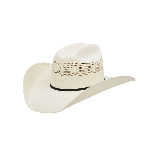 b2895d5ccfc Shop Alamo Cowboy Hat Mesquite Rancher Bangora Straw Synthetic White - Free  Shipping Today - Overstock - 17816323