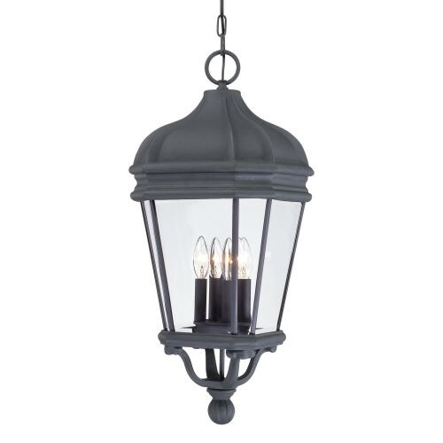 The Great Outdoors GO 8694 4 Light Lantern Pendant from the Harrison Collection