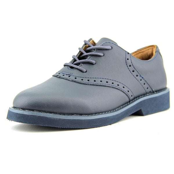 School Issue Upper Class Youth W Round Toe Leather Oxford
