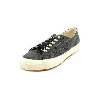 Superga Caravaggio Round Toe Leather Sneakers