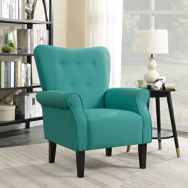 Shop belleze living room modern wingback armchair accent - High back living room chairs suppliers ...