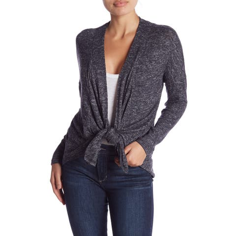 Bobeau Women's Gray Size 1X Plus 3 Way Convertible Cozy Cardigan