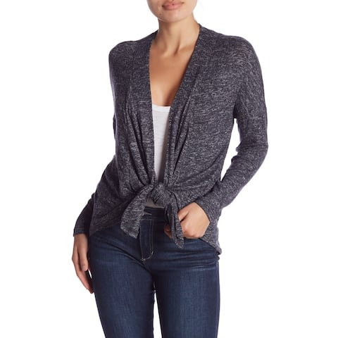 Bobeau Womens Sweater Gray Size 1X Plus Cardigan 3 Way Convertible