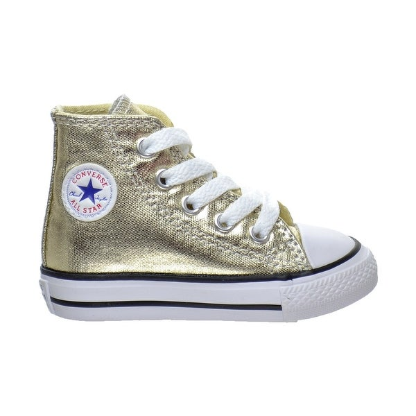 a2fd17d21df6 Converse Kids Girls  x27  Chuck Taylor All Star Metallic Canvas Hi (Infant