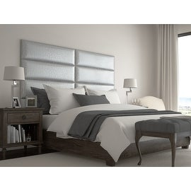 Vant Upholstered Wall Panels (Headboards) Sets of 4 - Pearl Silver - 39 Inch - Twin-King.