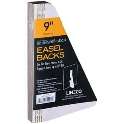 "White Single-Wing 9"" - Self-Stick Chipboard Easel Backs 25/Pkg"